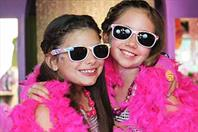 Girls Dressed Up with Sunglasses