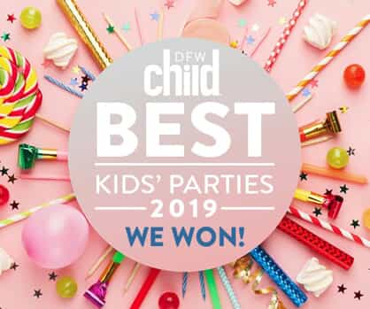 2019 DFW Child Best Kids' Parties logo for Sweet and Sassy parties