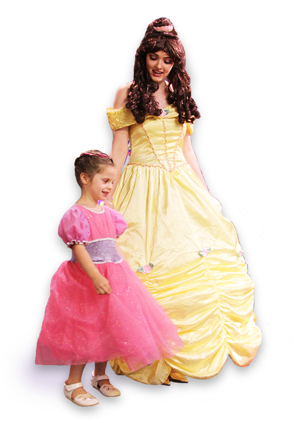 Picutre of girls dressed up in princess dresses
